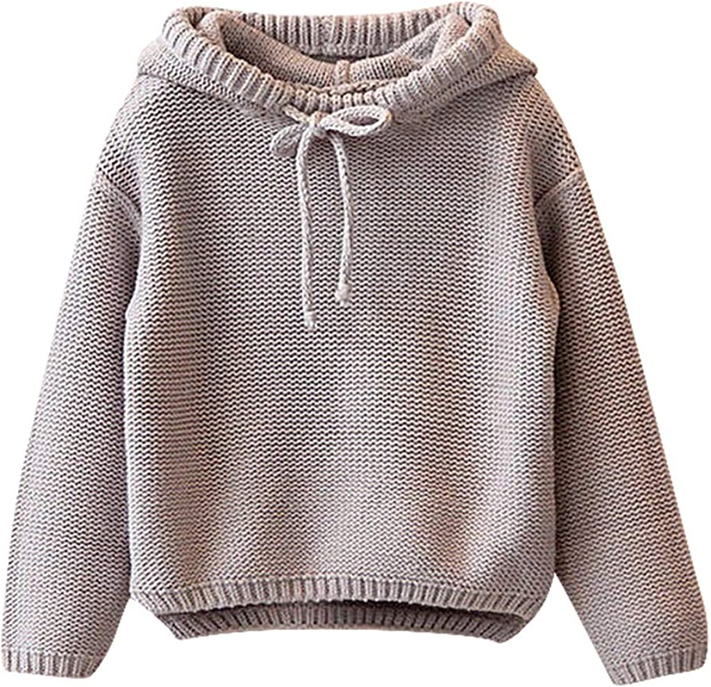 Toddler Boys Girls Hoodies Sweatshirt Casual Long Sleeve Zipper Pullover Sweater Tops Fall Winter Outdoor Clothes