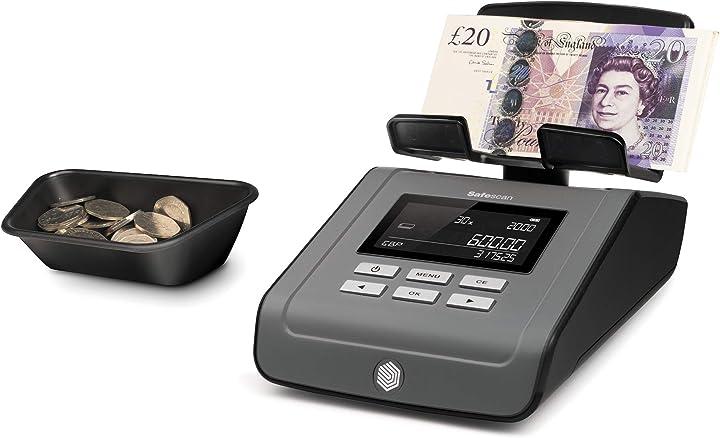 Bilancia per il conteggio di banconote e monete safescan 6165