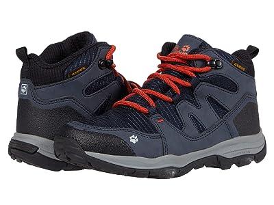 Jack Wolfskin Kids Mountain Attack 3 Texapore Mid (Toddler/Little Kid/Big Kid) (Dark Blue/Orange) Kids Shoes