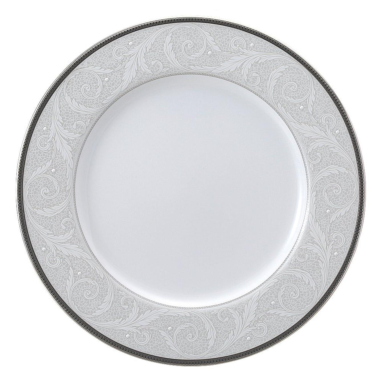 予測する地下室残忍なNARUMI(ナルミ) プレート 皿 白盛りリーフ シルバー 23cm ミート 50685-1269