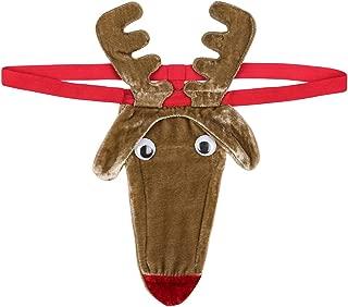 Mens Santa Hat Design G-String Thongs Fantasy Novelty Gift Secret Santa Bikini Xmas Christmas Posing Pouch Thong
