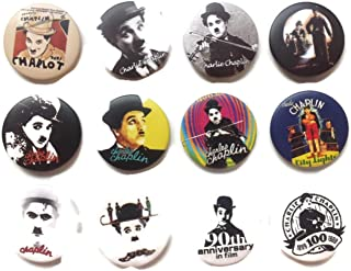 Charlie Chaplin 2 Awesome Quality Lot 12 New Pins Pinback Button Badge 1.25