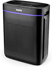 PARTU Air Purifier for Home Living Room with HEPA Filter Quiet None-Ozone Air Cleaner for Allergies and Pets Dander, Cigarette Smoke, Kitchen Odor, Dust, Pollen with Child-Lock (Available for Califor