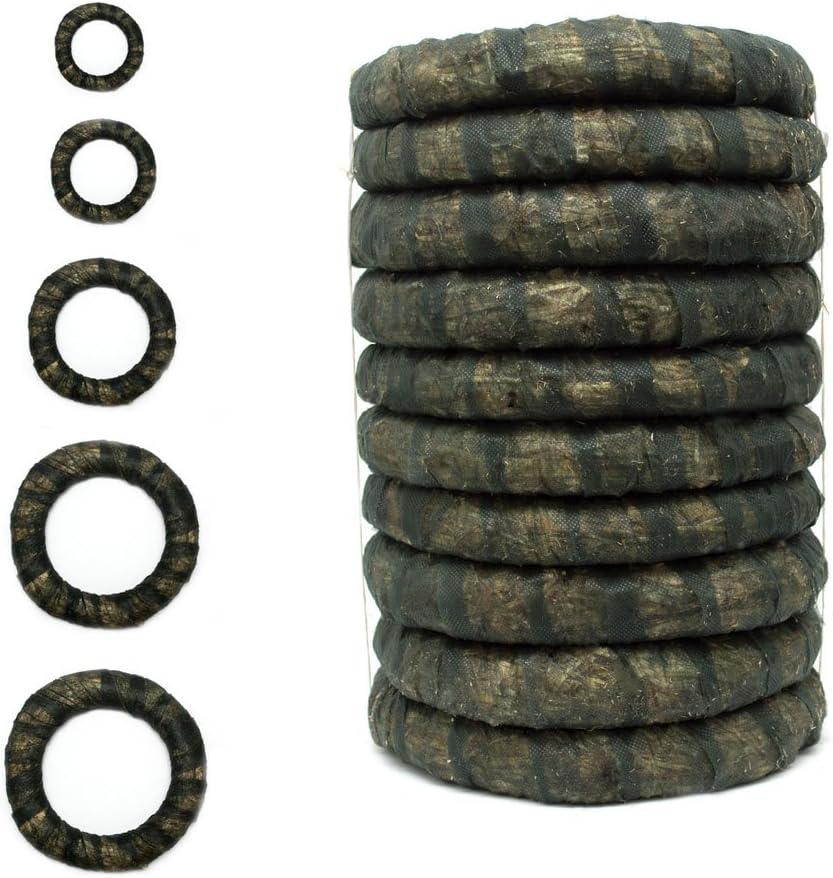 DekoPrinz spessore di 3 cm non rifinita Diametro di 20 cm anello di paglia Corone di paglia con vello 2 pezzi corona in grezzo corona per decorazione corona per porta