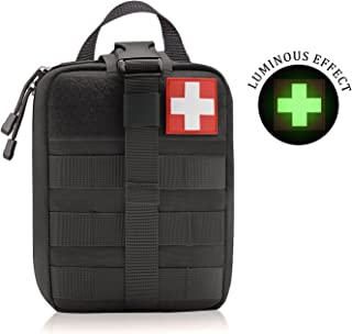 WishaLife 1000D Tactical MOLLE Rip-Away EMT Medical First Aid IFAK Blowout Pouch (Bag Only)