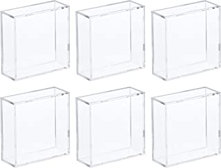 BCW 2-Piece Snap Design Hockey Puck Holder, Clear, 6-Pack