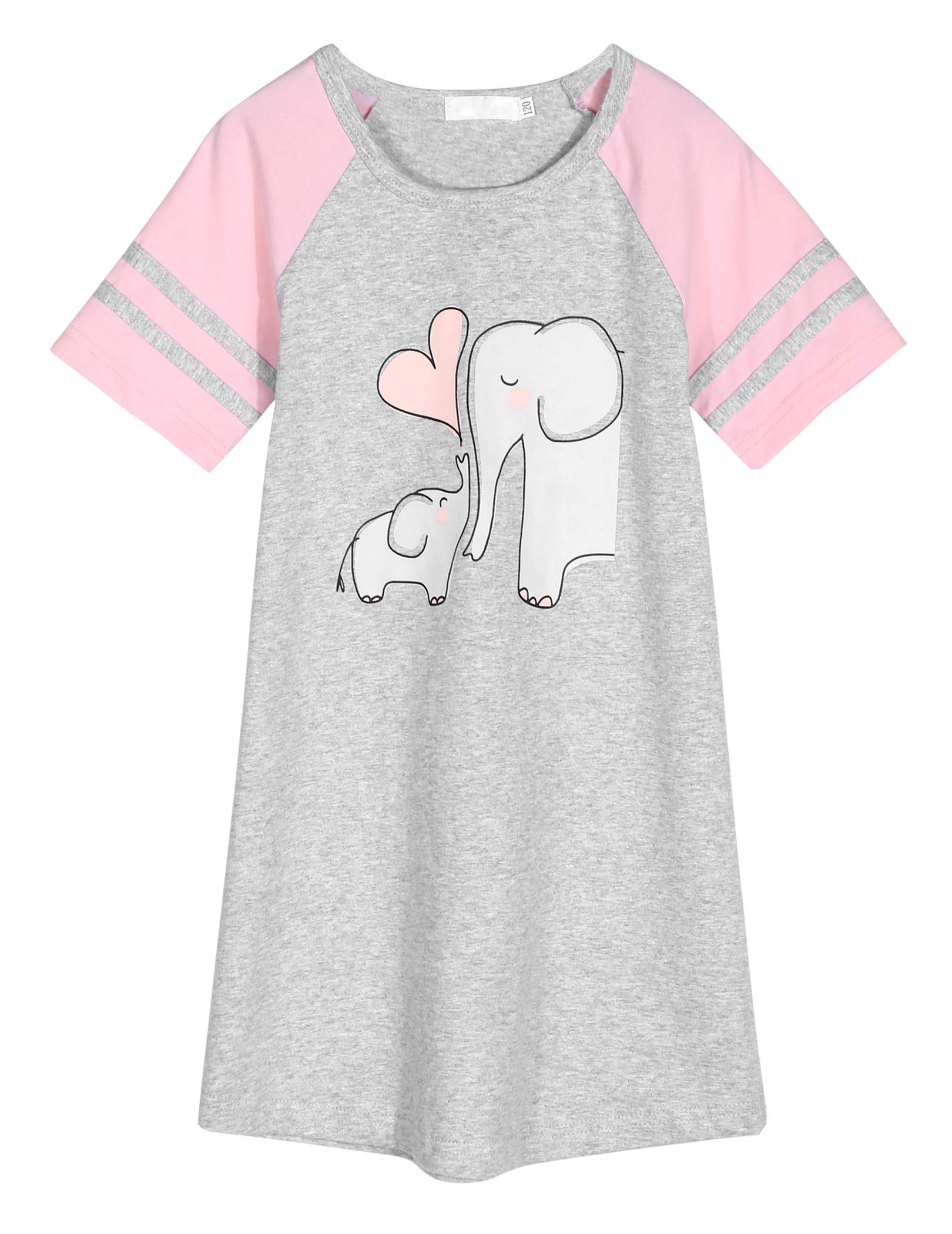 Image of Age 4-13 Adorable Elephant Nightshirt for Girls - See More Designs