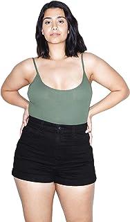 American Apparel Women`s Denim High-Waist Cuff Short