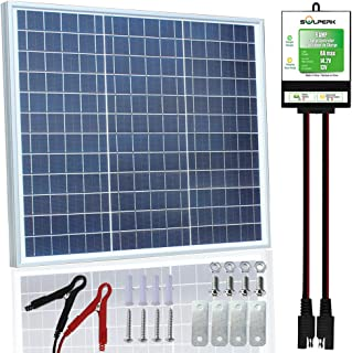 SOLPERK 30W Solar Panel,12V Solar Panel Charger Kit+8A Controller, Suitable for Automotive, Motorcycle, Boat, ATV, Marine, RV, Trailer, Powersports, Snowmobile etc. Various 12V Batteries. (30W Solar