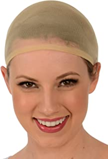 Kangaroo's Fashion, Costume Wig Cap (Pack of 2), Choice of Color: Nude/Beige or Black