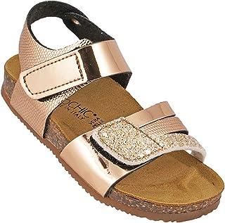 012-341 Biochic Girls Sandals Metallic Gold
