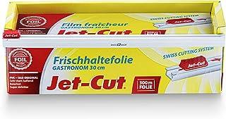 Film alimentaire Jet-Cut à découper, format gastronomie 30 cm x 300 m, PVC transparent
