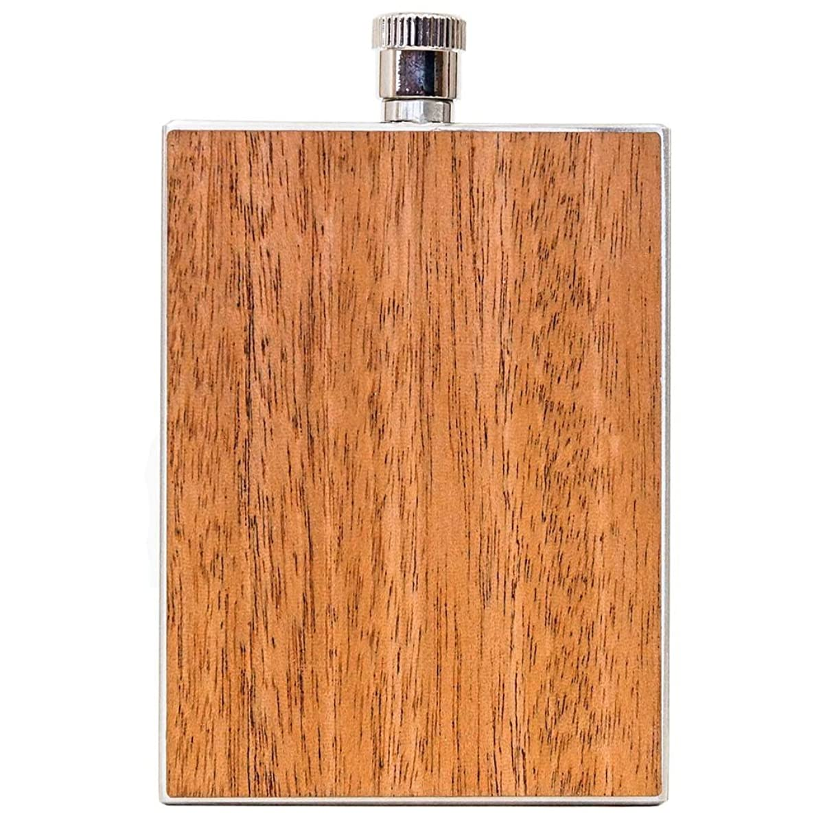 WOODCHUCK USA Wooden 3 oz Flask in Mahogany - 100% Premium Wood