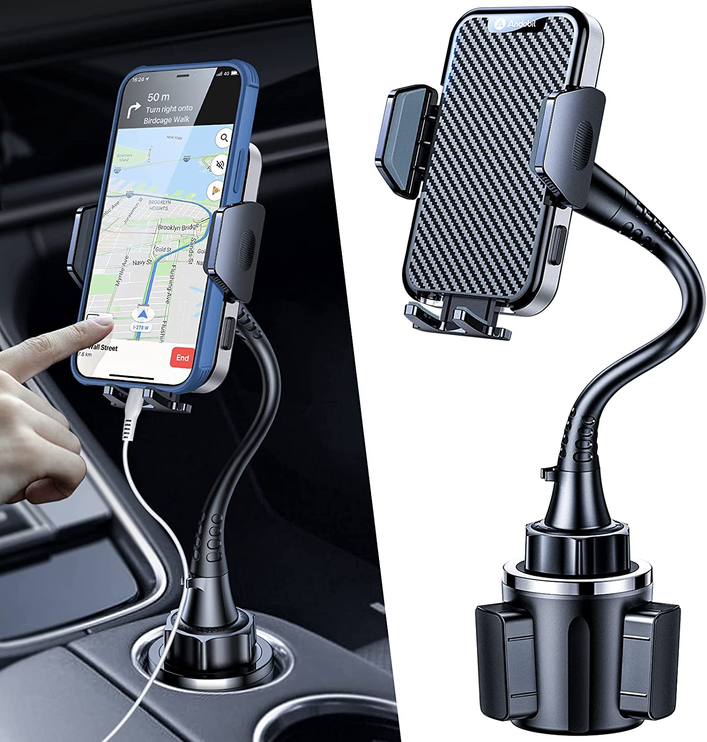 Andobil Ford Transit Cup Phone Holder with Expandable Base