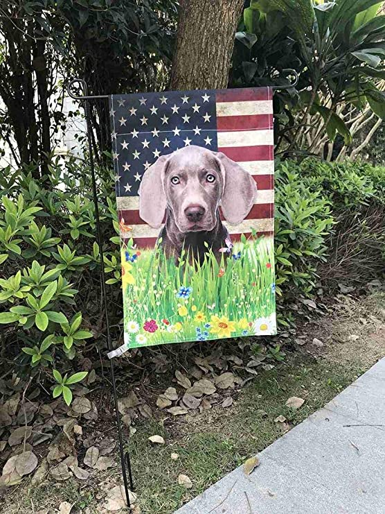 Bageyou All You Need Is Love And A Dog Labrador Decorative House Flag For Outside Cute Puppy Paws With America Flag Patriotic Banner 28x40 Inch Printed Double Sided Garden
