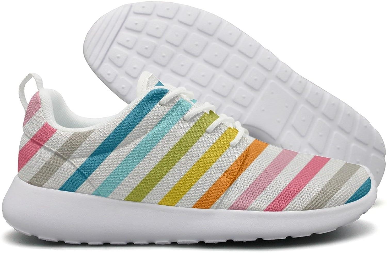 ERSER Rainbow Zebra Stripes Safety Running shoes Women