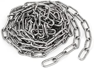 uxcell a16083100ux0984 Pet Dog Training Clothes Hanging 304 Stainless Steel Coil Chain Silver Tone M2.5x10Ft