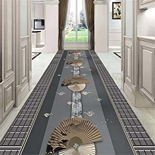 TONGQU Tapis de Couloir Au Mètre, Design Traditionnel antidérapant Lavable Polyester Long Tapis de Passage pour Hall/Cuisi...