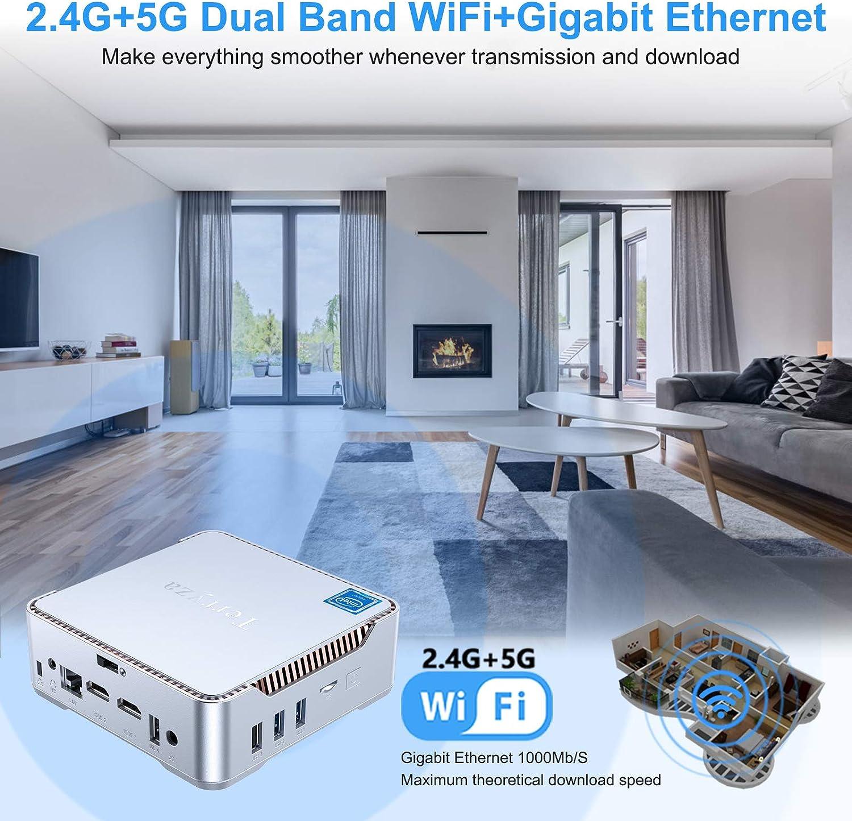 Mini Computer Windows 10 Pro Desktop Business Computer Support Triple Display//Bluetooth 4.2// Gigabit LAN//Dual Band WiFi//Auto Power On up to 3.10 GHz 8GB DDR4//256GB SSD Intel Core i5-7200U Mini PC