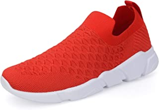 WXQ Men's Running Shoes Fashion Breathable Sneakers Mesh Soft Sole Casual Athletic Lightweight Walking Shoes