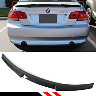 Cuztom Tuning Fits for 2007-2013 BMW E92 335i 328i & E92 M3 2 Door Coupe Highkick Carbon Fiber Trunk Spoiler Wing- M4 Style