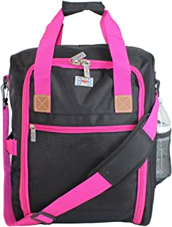 Personal Item under seat for the airlines of American, Frontier, Spirit, (Pink)