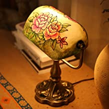 Modeen European Style Retro Iron Table Lamps Creative Bedroom Bedside American Hand-Painted Book Desk Lamps Old Korea Old ...