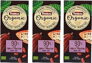 Torras Organic Sugar Free and Gluten Free Dark Chocolate Bar (Criollo Forastero)