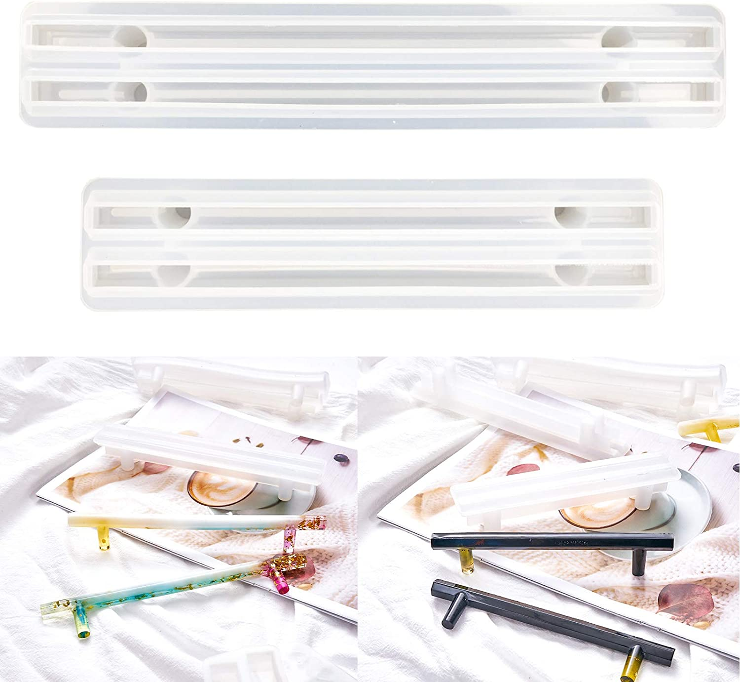 Max 61% OFF 2 Set 4pcs Epoxy 5 ☆ very popular Tray Handle Mold Casting Resin for Makin