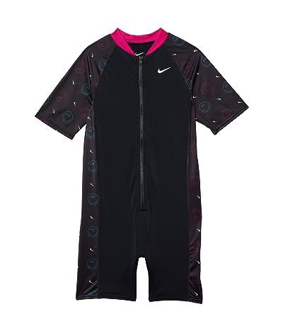 Nike Kids Color-Block Short Sleeve Zip Leg Suit (Little Kids/Big Kids) Girl