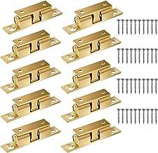 Roudaru 3 x WU86-URN9 kogelsluiting, messing, 50 mm, dubbel slot, kast, keuken, huis, deur, bal, goudkleurig