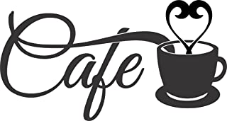 Apollo's Products - Café - Cup/Steam -Wall Vinyl Decal Sign - 14 X 8 Inches