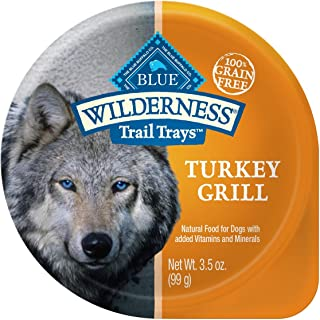 Blue Buffalo Wilderness Trail Trays High Protein Grain Free, Natural Wet Dog Food Cups