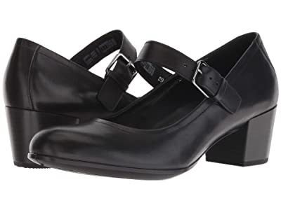 ECCO Shape 35 Mary Jane (Black Cow Leather) Women