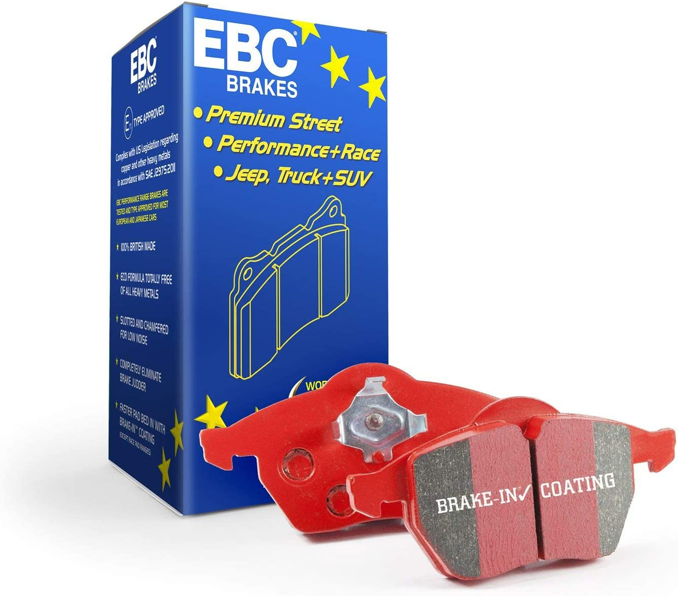 NEW EBC 312mm FRONT USR SLOTTED BRAKE DISCS AND REDSTUFF PADS KIT PD07KF201