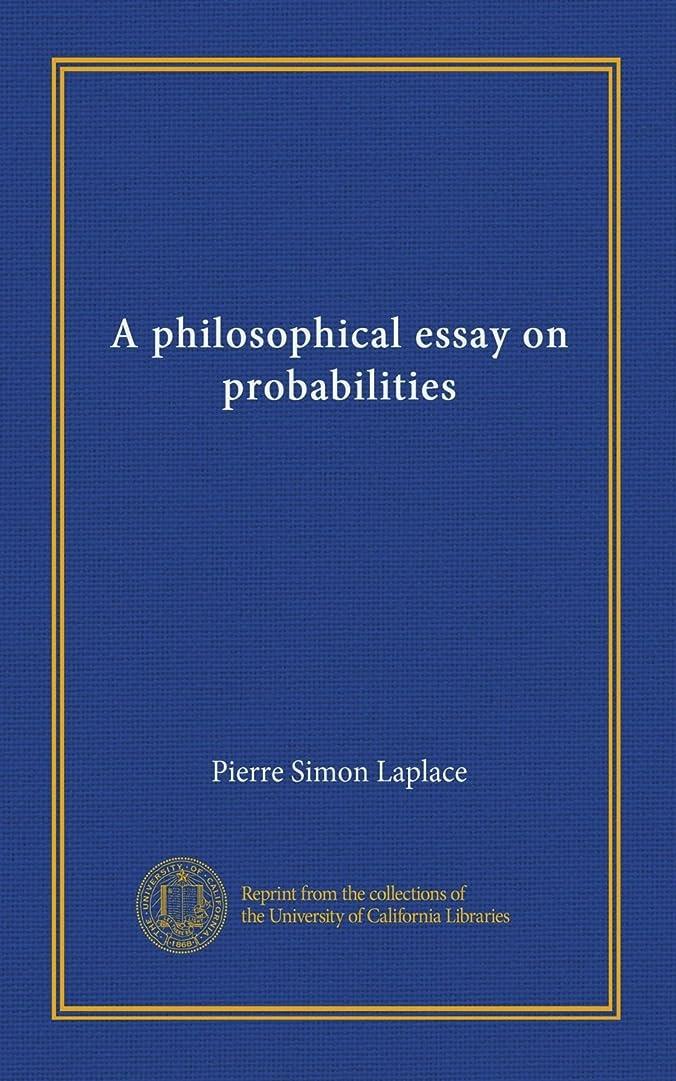 眠っている重量ピクニックA philosophical essay on probabilities