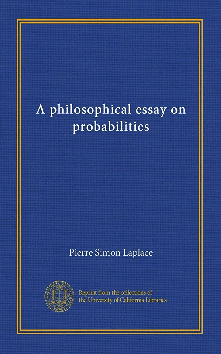 コイル飾る粗いA philosophical essay on probabilities