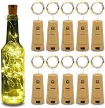 Betus 10 Pack Wine Bottles Cork String Lights - Battery Powered - Decorations for Garden, Wedding, Christmas & Party - War...