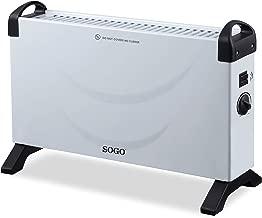 Kekai KT0595 Convector Electrico Potencia 1000//2000 W Naranja 60x10x35 cm