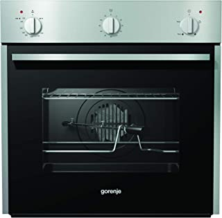 Gorenje BOG622E00FX, 60 cm Built in Gas Oven, 54 Liters Capacity, Easy Cleaning with Aqua Clean Function, Mechanical Tempe...
