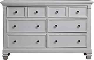 Baby Cache Glendale 6 Drawer Double Dresser, Pure White