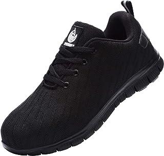 DYKHMILY Chaussures de sécurité Homme Femme Embout Acier Respirant Chaussures de Travail Anti-Perforation