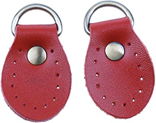 Prettyia 2 Pieces Leather Zip Puller Zipper Pulls Replacement Sewing Fastener Slider for Backpack