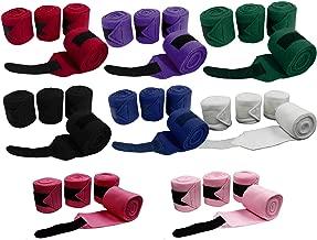 Derby Originals Set of 4 Super Soft Fleece Horse Polo Wraps with Velcro