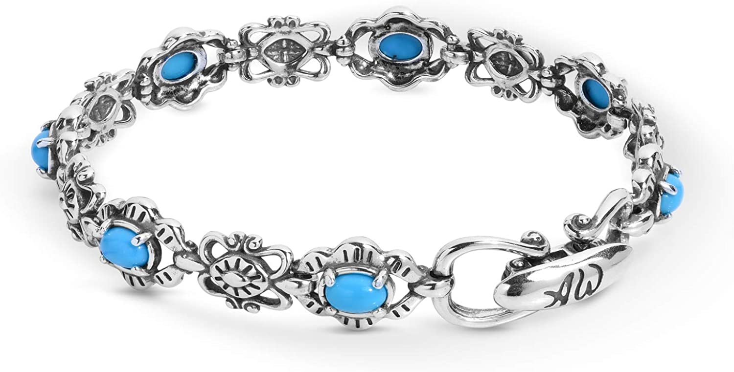 American West Max 74% OFF Sterling Silver Choice Link High quality Colors 5 Brac Gemstone