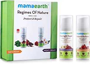 Mamaearth Natural Radiance Day Cream and Overnight Repair Face Cream