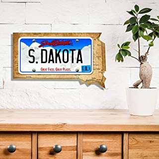 Picture Wall Art - Custom License Plate & State: South Dakota - Your Name or Saying, Up to 11 Characters!