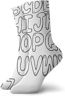 Vaca Fácil Dibujo Carta Calcetines casuales transpirables Calcetines deportivos de viaje Yoga Caminar Ciclismo Correr Fútbol 30cm