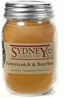 Sydney Candle Co. Butterscotch Bourbon - Mason Jar Candle - (15.5 oz)