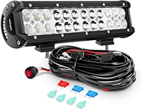 Nilight ZH007 Led Light Bar 12 Inch 72W Spot Flood Combo with Off Road Wiring Harness, 2 Years Warranty
